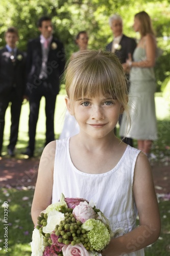 flower girl outdoors