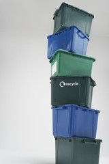 Stack of Empty Recycling Boxes