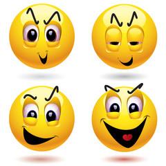 Evil smiley ball