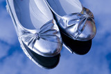 Pair of silver shoes