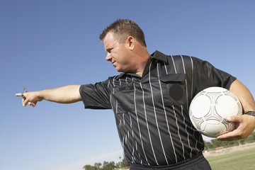 Soccer Referee Gesturing