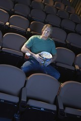 Young Man Watching Movie