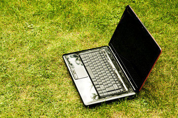 Computer laptop outdoor