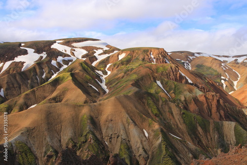 Papiers peints Morning Glory Landmannalaugar