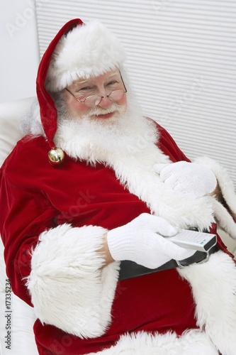Santa Claus Using Remote Control