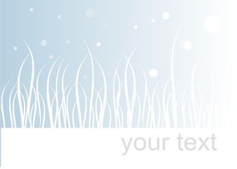 Winter background with place for text