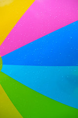 Colorful abstract of a beach ball