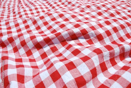 Deurstickers Picknick picnic cloth