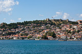 Ohrid Lake and City poster