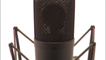 Detail shots of professional microphone - 2 clips