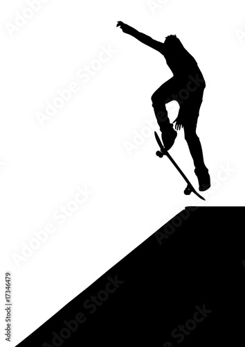 Skater jump. Element of design.
