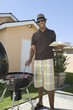 man at a barbeque