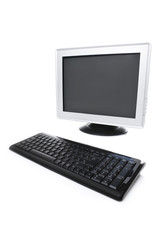 Monitor and keyboard