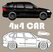 Picto de voiture 4x4