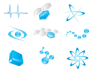 Set of vector icon elements