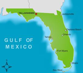 Karte Florida