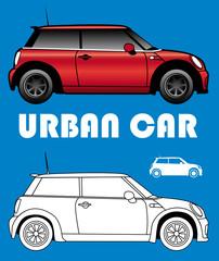 Picto de voiture urbaine