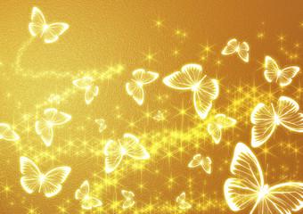 金色の蝶の背景