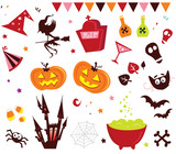Halloween vector Icons set III. VECTOR ILLUSTRATION.