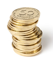 Stack of a golden coins