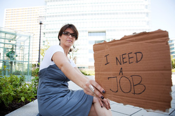 Unemployed woman