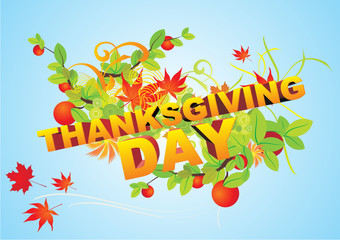 thanksgiving day text vector
