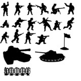 VECTOR Silhouette of soldiers