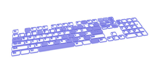 Computer Keyboard, Blue