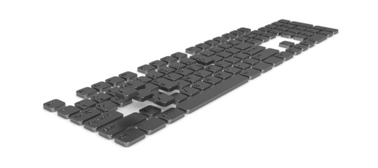 Computer Keyboard, Dark Metal