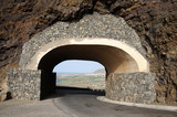 Tunnel in a mountain. Tenerife, Spain poster
