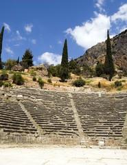 Grecia, l'anfiteatro di Delfi