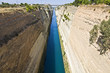 Canal water passage of Corinth in Europe, Greece