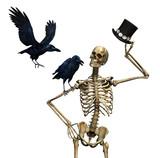 Mr Skeleton with Ravens poster