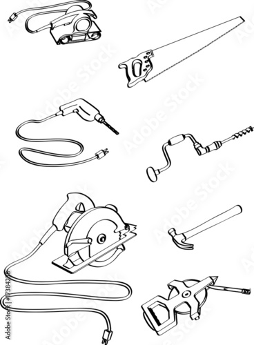 carpenter tools coloring pages - photo#28