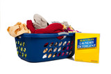 Overflowing laundry Basket with detergent - Household Chores poster