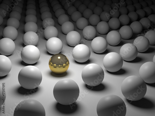 3D concept rendering depicting individualism and uniqueness
