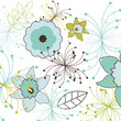 Flower pattern. Vector