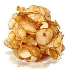 Fresh hand cut potato chips at the county fair