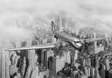 Fototapety DC-3 Over NYC