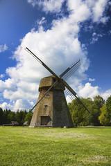 old windmill, a rural landscape