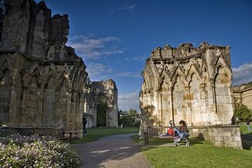 Parque de San Mary´s en la ciudad de York, Reino Unido.