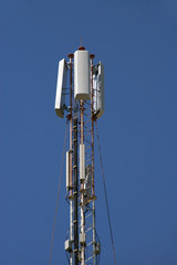 Cellular communication tower.