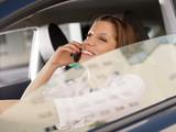woman driving car poster