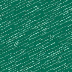 Seamlessly wallpaper mathematics on green blackboard