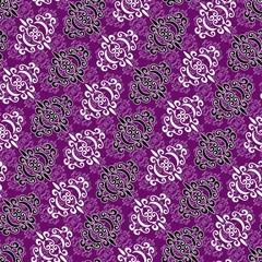 Seamless violet ornament pattern