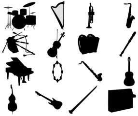 Illustration of music instruments