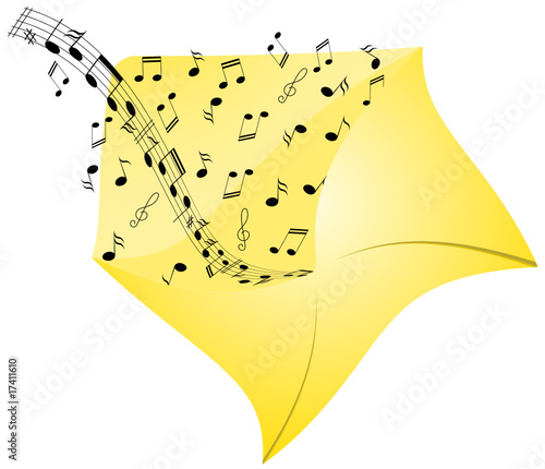 Illustration of music from envelope