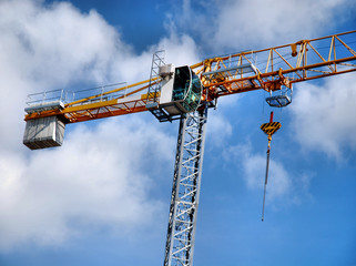 Crane at a building construction