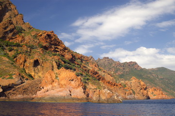Rocks of Scandola peninsula in Corsica, France, Europe