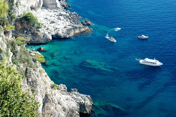 Azure sea at Capri island